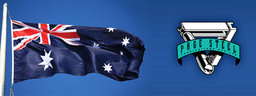 Australian Flag and Page Steel Logo